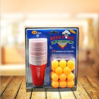 beer pong cup - Set Beer Pong Kit Party Game Drinking Toy for Nightclub Bar Happy Hour Holiday Gag Toys Novelty Gifts with Cups