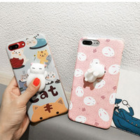 phone cat toy - Lovely Squishy Toys D Soft Lazy Cat Soft Silicone Phone Case Cute Panda Seal TPU Back Cover For iPhone S Plus