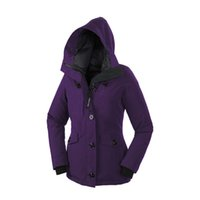 arctic outerwear - Limited Sale Canada Brand Women Hooded Thick Warm Slim Fit Duck Down Outerwear Windproof Outwear Arctic Expedition Outdoor Parkas