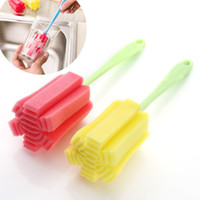 Wholesale Does Not Hurt The Hand Sponge Bottle Mug Cup Cleaning Brushes Multi purpose Dead Angle Health Long Handle Decontamination Clean