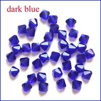 Precio de Mixed crystal beads-Venta al por mayor 1000pcs 6m m mezcló el color 5301 Bicone talló los granos flojos cristalinos para el arte Diy de la joyería