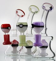 Wholesale Newest arrival Poke Ball bong Colored glass bongs Poke Ball perc bowl Glass Oil Rigs smoking oil burner water pipe mm joint