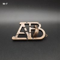 abc ring - Metal Cast ABC Ring Puzzle D Puzzle Toys Suitable For Young And Old IQ Brain Teaser Test Prop