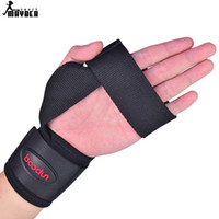 Wholesale New sport Adjustable Wrist Support for gym Wrist Joint Brace Black Nylon Sport Wristband Use Ball Games Running Fitness A111504