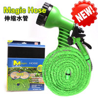 Wholesale 7 in Spray Gun Expandable Garden Hose Latex Tube ft Magic Flexible Hose For Garden Car Plastic Hoses Magic Hose
