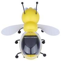 Juguete educativo de abeja España-Venta al por mayor-2016 nuevos niños juguete juguete educativo animal de la abeja de la energía solar con los niños del panel solar que educan el regalo del juguete para los juguetes de la energía solar de los cabritos