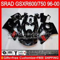 al por mayor suzuki gsxr750 fairing-8 Regalos 23 Colores Para SUZUKI SRAD GSXR750 GSXR600 96 97 98 99 00 5HM1 GSX R600 GSXR 600 750 1996 1997 1998 1999 2000 Brillo negro Kit de carenado