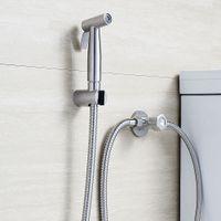 Wholesale B565 Stainless Steel Handheld Bidet Shower Set Bidet Sprayer High Pressure Diaper Washing with Hose Holder
