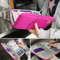 acrylic document holders - Travel Document Wallet Journey Fabric Passport ID Card Holder Case Cover Wallet Purse Organizer