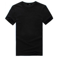 Wholesale In the summer of g new cotton blank round collar T shirt with short sleeves Men s printed t shirts with short sleeves Half sleeve shirt