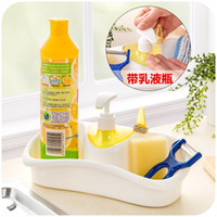 Wholesale 1pc Kitchen bathroom clean racks cosmetic storage rack with hand sanitizer bottle storage rack