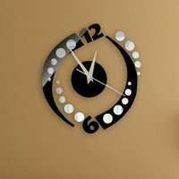 Wholesale new arrival living room quartz needle acrylic watch mirror wall clock diy stickers clocks special offer real