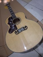 Wholesale New Factory left handed SJ200 acoustic guitar solid top GB lefty J200 electric acoustic guitar Jumbo J200