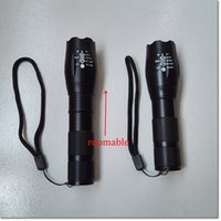 Wholesale G700 E17 CREE XML T6 High Power LED Torches Zoomable Tactical LED Flashlights torch light for AAA or x18650 battery brand New