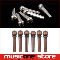 Wholesale Metal Guitar Bridge Pin Folk Acoustic Guitar String Pin Peg Nail Brass Bronze Silver