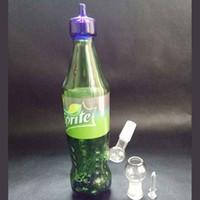Bong de verre Spritech Bongs sale halorade plate-forme pétrolière verre bong bong coke bouteille hookah botttle bong bubble dab wapter pipe vente