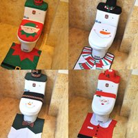best toilet tissue - Christmas toilet decotations Rudolph reindeer deer snowman Santa Claus elf toilet cover Tissue Box toilet tank cover Rug Bathroom mat best