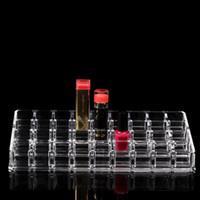 Wholesale 36 Lipstick Holder Display Stand Clear Acrylic Cosmetic Organizer Makeup Case Sundry Storage makeup organizer organizador