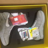 Wholesale 20172017 Air Mag AKA Marty McFly Basketball Shoes Back To The Future Glow In The Dark Sole Mag Limited Edition Air Mags Sneaker Led Lights