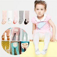 baby footies - Autumn and winter scoks quot crown quot tights quot pure color cotton baby leggings antiskid children s tights Footies