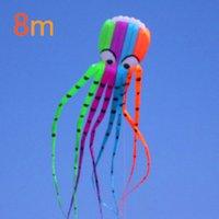 großhandel love toy for adult-Hochwertige 8M Octopus Mode fliegen Drachen Outdoor Spielzeug Rabatt fliegen Erwachsene mit Griff Linie Liebe