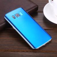 achat en gros de quad sim-Dernier Goophone S8 Plus 5,5 pouces Edge Curve Screen Quad Core MTK6580 Ram 1 Go + Rom 8G Dual Sim 3 G IPS Cellulaires Débloqué Livraison gratuite