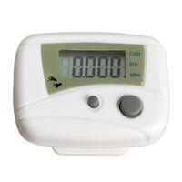 Wholesale EA14 Hot Waterproof Digital Backlight Clock Stopwatch LCD Run Step Pedometer Walking Distance Calorie Counter Passometer White