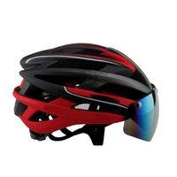 Wholesale New Bicycle Helmets Sunglasses Cycling Glasses Lens Integrally Molded Men Women Mountain Road Bike Helmets