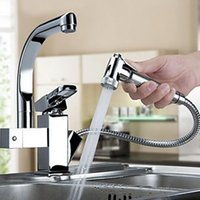 Wholesale Kitchen Faucet Mixer Pull Out Sprayer with Ceramic Valve Single Handle One Hole Kitchen Bathroom Sink Chrome Faucet