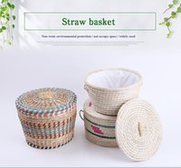 articles protection - Natural Environmental Protection Corn Leather And Fur Book Steamed Buns Basket Competitive Products Add Color Straw Plaited Article Basket W