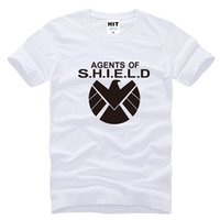 Crew Neck anti agent - Fashion Avengers Agents of S H I E L D Shield Captain America Printed Men O Neck Cotton T shirts Tee