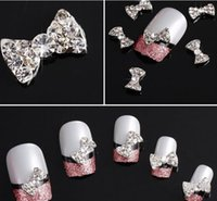 Wholesale New D Clear Alloy Rhinestone Bow Tie Nail Art Slices Diy Decorations