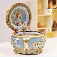 baby gifts music boxes - carousel music box music box baby with custom melody Sound operate sankyo creative birthday gift Carousel Music Box