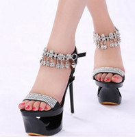 bands and noble - New Arrival Hot Sale Princess Summer Noble Nightclub Catwalk Show Party Fine Diamond Buckle Performances Nightclub Heels Sandals EU34