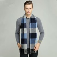 Wholesale 2017 new men scarf long thickening warm winter fei grid as lambs wool business leisure centers of England