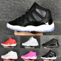 Chaussures blanches chaudes Prix-Hot Kids Retro 11 Gamma Blue Basketball Shoes 378037 Athletic 72 10 Enfant Red White Blue Sneaker pour Boy Girl Birthday Gift