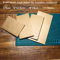 Wholesale Kraft blank page paper for travelers journal notebook replace inside filler spiral paper in notebook type size school supplies