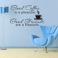 background coffee - 35 cm Good Coffee leisure fashion arts waterproof PVC wallpaper children bedroom sitting room background wall stickers