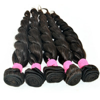 100% Uprocessed 6A Extensions de cheveux humains brésiliens Natural Black 8-30 inch Loose Wave Human Hair Weaves 3pcs Lot