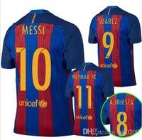 Men best memorials - 2017 best Thailand Quality Barcelonas SUAREZ Jerseys Memorial Barcelonaes Neymar Messi soccer jersey Camiseta de futbol