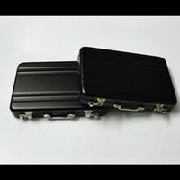 Metal aluminum color code - Fashion New Black Color Mini Code Case Aluminum Business Card Holder Name Card Case