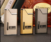 Nouveaux briquets pour hommes Jobon Windproof Metal Jet Double Flame Cigarette Cigar Smoking Pipe Butane Gas Lighter