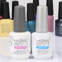 Wholesale Harmony gelish polish LED UV nail art gel TOP it off and Foundation frence nails Top coat Base coat set WA2204