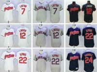 Wholesale 2016 Cleveland Indians Baseball Jersey Men Kenny Lofton Francisco Lindor Jason Kipnis Manny Ramirez Jim thome Jerseys