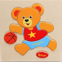 baby bears pictures - 1x Colorful Bear Kid Wooden Picture Puzzle Baby Jigsaw puzzle Educational Toy train children gift newborn early development