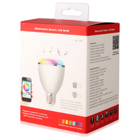 Wholesale Multi Color Smart LED Blub Light Wireless Bluetooth Speaker LED Lights110V V E27 W Lamp Audio for iPhone S C iPad BL08A