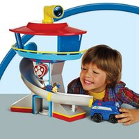 animal playset - HOT Canine Patrol Dog Toys Anime Doll Action Figures Patrol Puppy Periscope rotates a full degrees Lookout Tower Animals Playset