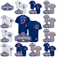 Wholesale 2016 World Series Champions Patch Chicago Cubs Jersey Javier Baez Kris Bryant Anthony Rizzo Jake Arrieta Jersey Baseball Jerseys