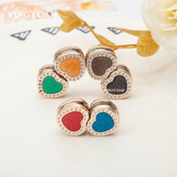 asian candy - XT89 NNew arrive heart love flat magnet brooch brooches for women candy colors hijab accessories