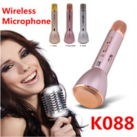 Wholesale Newest K088 Bluetooth Wireless Microphone With Mic Speaker Condenser Mini Karaoke Player KTV Singing Record Song Portable Machine VS K068 Q7
